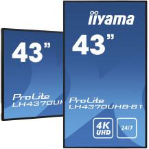 """iiyama LH4370UHB-B1 43"""" profesjonalny wyświetlacz Digital..."""