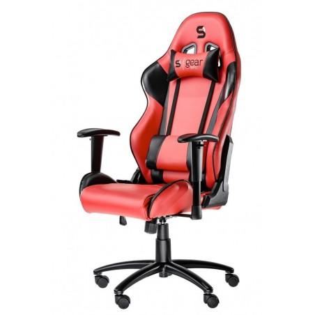 Fotel SPC Gear SR300 RED (Czerwony, skóra ekologiczna)