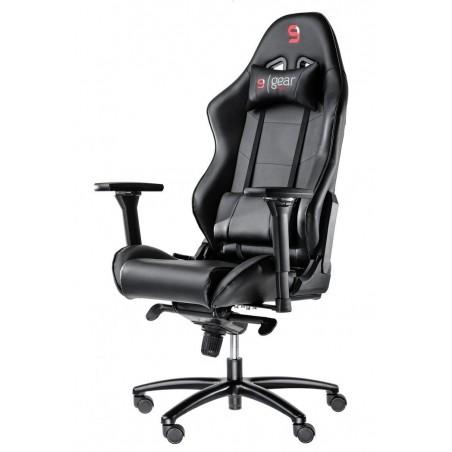 Fotel SPC Gear SR500 BLACK (Czarny, skóra ekologiczna)