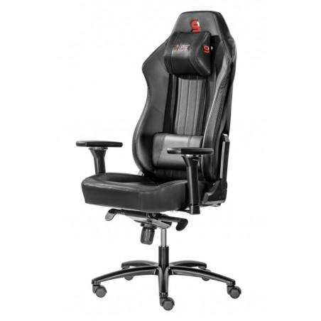 Fotel SPC Gear SR700 BLACK (Czarny, skóra ekologiczna)