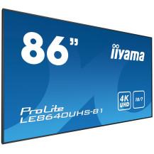 """Monitor wielkoformatowy iiyama ProLite LE8640UHS-B1 86"""" 4K iisignage"""
