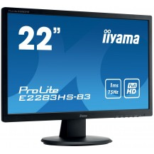 "Monitor iiyama ProLite  E2283HS-B3 22"" FLICKER FREE LED"
