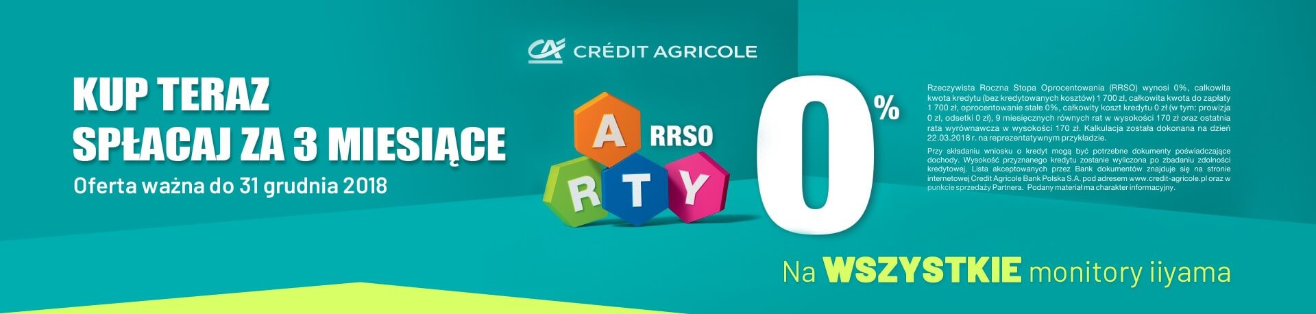 Raty 0% Credit Agricole