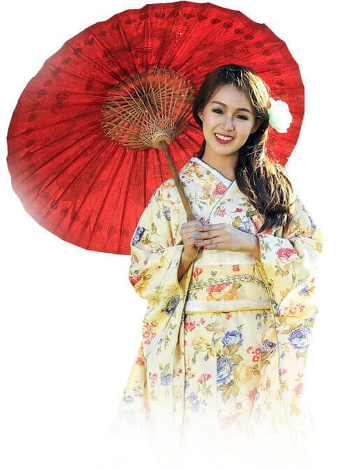 Japonka w Kimono