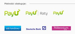 PayU, PayU Raty, BOŚ Bank, Przelewy24, Leaselink, citi handlowy, get in bank
