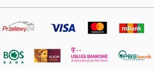 mBank, Visa, Mastercard, Deutsche Bank, Millenium Bank, Alior Bank