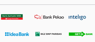 WBK, Pekao, inteligo, BLIK, T-Mobile, IdeaBank, Orange