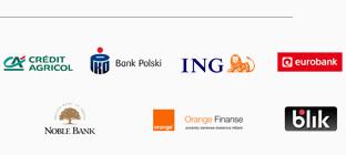 Credit Agricole, PKO, ING, Eurobank, BGŻ, GRENKE, Santandercredit